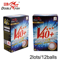 Original 12balls DOUBLE FISH Volant V40+ 3 Stars Table Tennis Balls ABS polymer Ping pong Ball Approve by ITTF COMPETITION Ball
