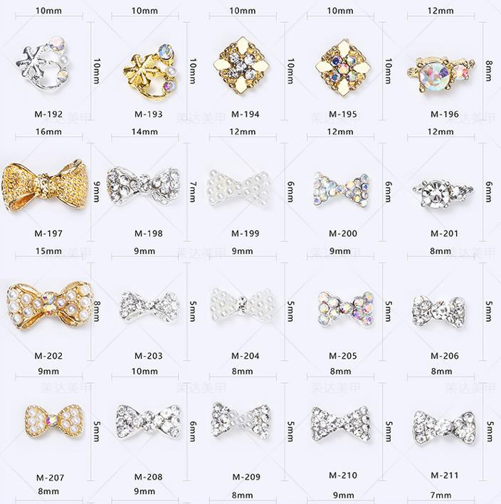 3D diamond nail art Bow Diamond dressing Big drill Plain bottom nail crystals nail Ornamental jewel rhinestones for nails in Rhinestones Decorations from Beauty Health