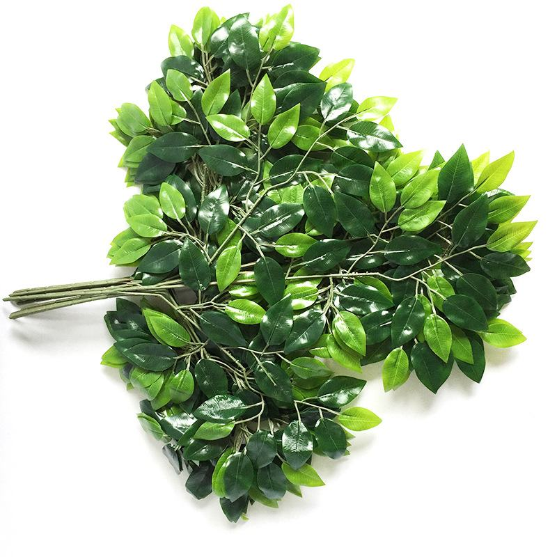 1PC 58CM-60CM Party Resturant Home Hotel Wall Hanging Decoration Artificial Ginkgo Banyan Leaf Plants Fake Plastic Plant Leaves