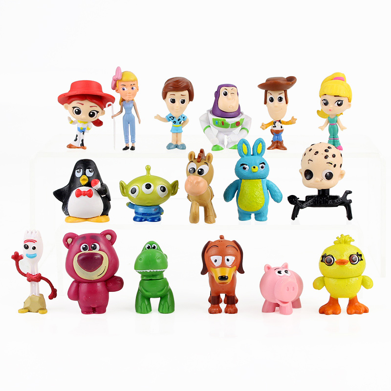 10pcs 12pcs 17pcs Toy Story 4 Figure Toy Woody Buzz Lightyear Forky Jessie Rex Mr Potato Head Lotso Squeeze <font><b>Aliens</b></font> Mini Baby Toy image