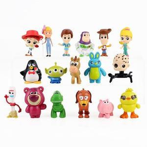 10pcs 12pcs 17pcs Toy Story 4 Figure Toy Woody Buzz Lightyear Forky Jessie Rex Mr Potato Head Lotso Squeeze Aliens Mini Baby Toy(China)