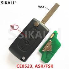 Sikali удаленное 3BT для Peugeot Partner 807 307 207 407 308 CC эксперт SW лампа/света кнопку (CE0523, ASK/fsk, VA2)