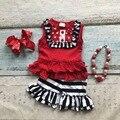 Meninas do bebê roupas de Verão do bebê meninas boutique roupas tarja irritar calções crianças top sets jardineiras acessórios combinando