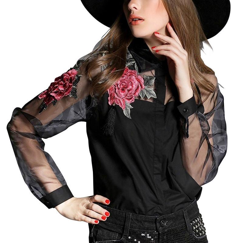 HTB10tSDIFXXXXX2XVXXq6xXFXXXq - 2017 Summer Elegant Women Blouse Flower Embroidery Vintage Shirts