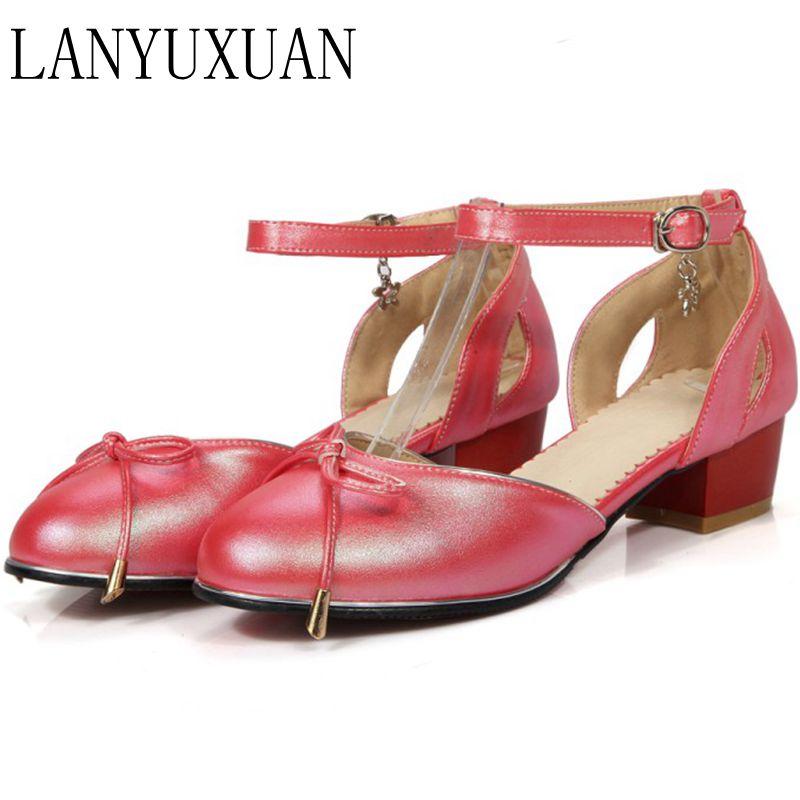 LANYUXUAN 2017 Sandalias Fashion Ssuper Big Size 34-52 Shoes Women Sandals  Sapato Feminino Summer Style Chaussure Femme E-333