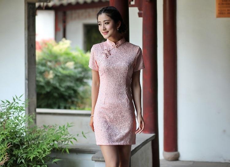 f2a7097b4d5f6 Shanghai Histoire Mélange Coton cheongsam robe Femmes Robe traditionnelle  chinoise qipao Oriental dentelle robe vente chaude 5 style 2521