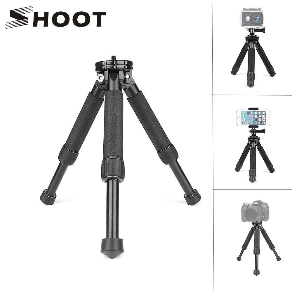 SHOOT Lightweight Mini Portable Travel Tabletop Desktop Tripod For Gopro Hero 7 6 5 Black Canon Nikon Sony Action Cam For Phone