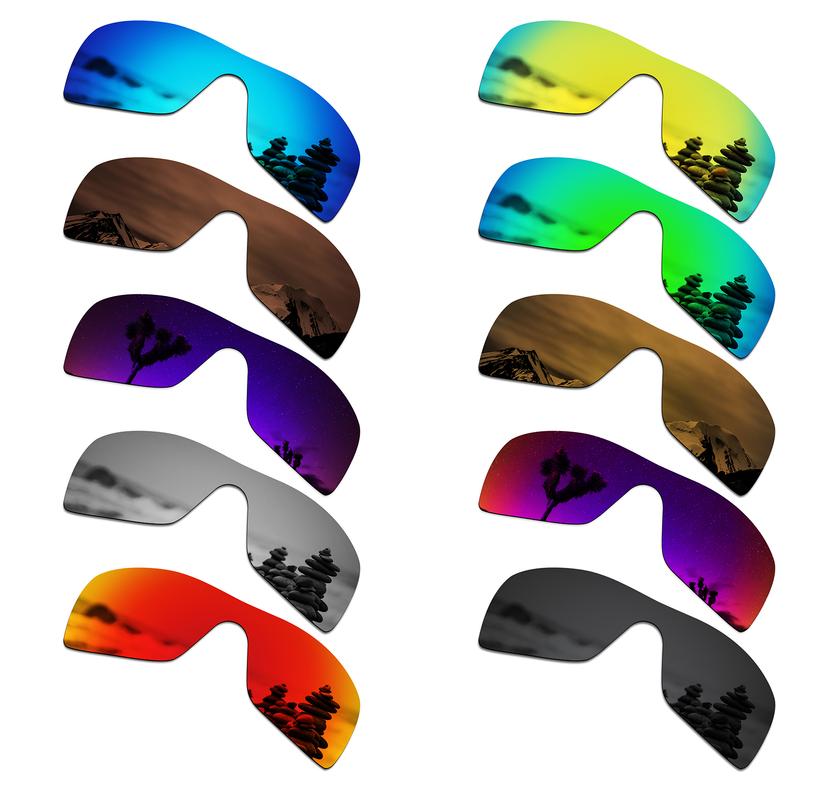 SmartVLT Polarized Replacement Lenses For Oakley Batwolf Sunglasses - Multiple Options