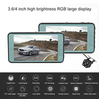 4,0 дюймов 1080 P Full HD Автомобильный видеорегистратор Камера с обратной камерой авто вождения видео рекордер ночного видения 12.0MP автомобильная...