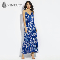 Vintacy Plus Size Women Mermaid Long Maxi Dress White 2017 V Neck Blue Summer Dresses Party