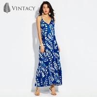 Vintacy Plus Size Women Mermaid Long Maxi Dress White 2017 V Neck Blue Summer Dresses Party