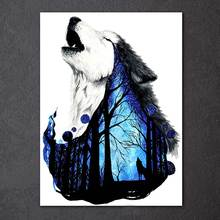 Full Square Drill 5D DIY Diamond Painting art Wolves Embroidery Cross Stitch Mosaic Home Decor Y2221