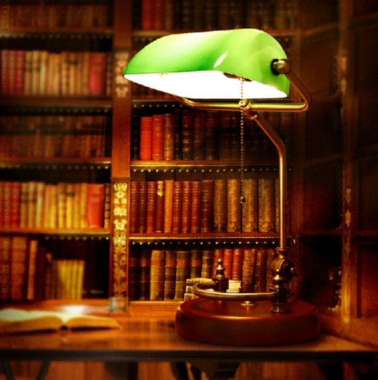 Vintage banker table lamp green glass cover birch wood base desk vintage banker table lamp green glass cover birch wood base desk lamp fixture in led table lamps from lights lighting on aliexpress alibaba group aloadofball Choice Image