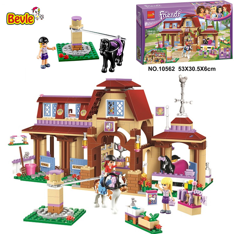 Bevle 10562 Bela Friends Series Heartlake Riding Club Model Building Block Bricks Toys Gift For Children Friends 41126 bevle bela 10495 friends series luxury villa dream house princess room assemble building block toys compatible with lepin 41108