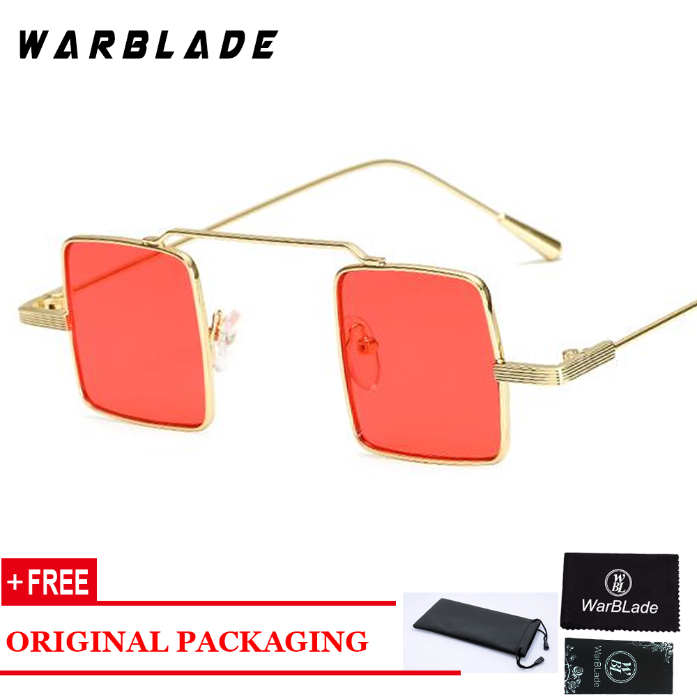 European Small Square Sunglasses Men Retro Metal Frame Pink Yellow Blue Red Vintage Sun Glasses For Women Uv400 Warblade Discounts Price Apparel Accessories Women's Sunglasses