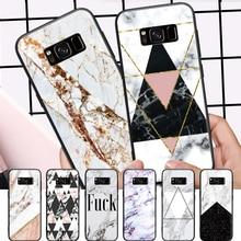 Rose Gold Geometric Triangle Marble  Pattern For Samsung Galaxy A3 A5 A8 J3 J5 J7 2015 2016 2017 2018 Hard Phone Case цена 2017