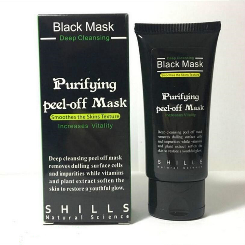 Face Mask Blackhead Remover Deep Cleansing Purifying Peel Off Acne Black Mud facial Black Mask Face Care Nose Remo Acnever