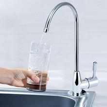 цены на 1/4'' Stainless Steel Plating Purifier Faucet Kitchen Sink Tap Plastic Valve Drink Water Filter Faucets DIY Home Tools  в интернет-магазинах