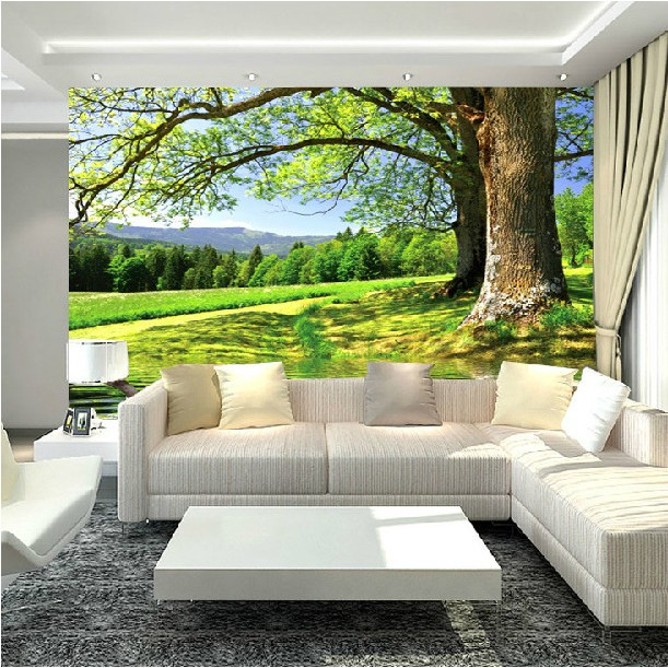 Buy hot sale large 3d mural wallpaper big for 3d murals for sale