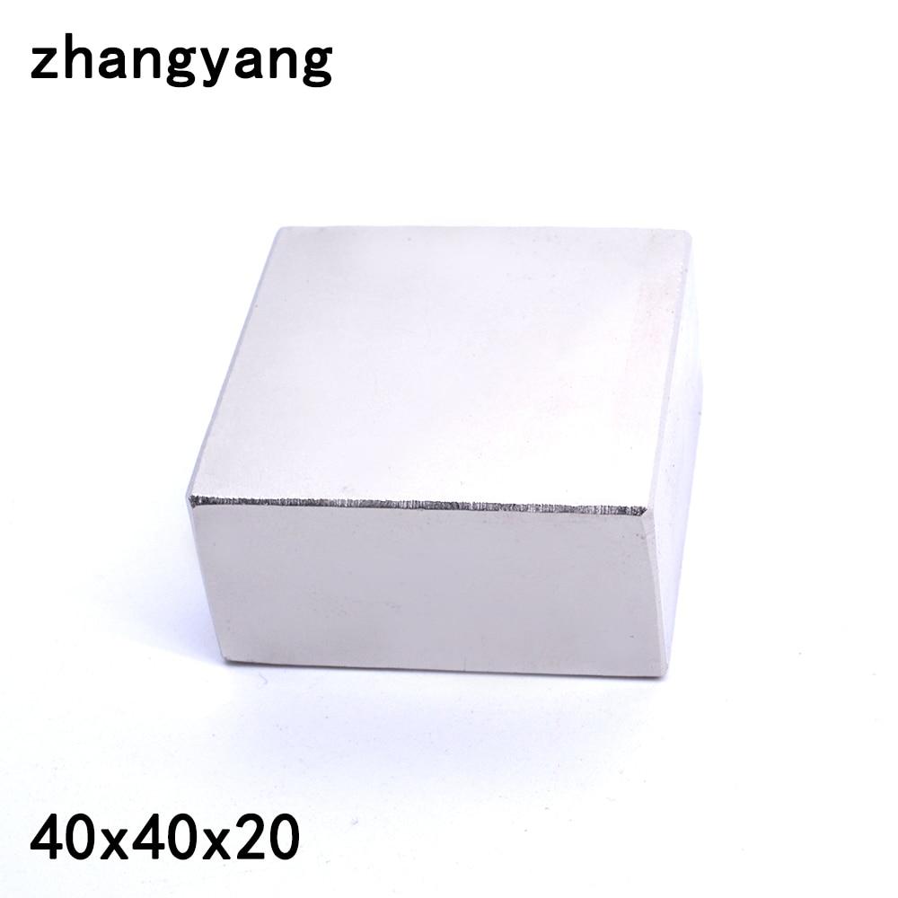 ZHANGYANG 1 unids/lote N45 neodimio 40*40*20mm pequeño disco redondo imanes 40 X 40X20mm imanes
