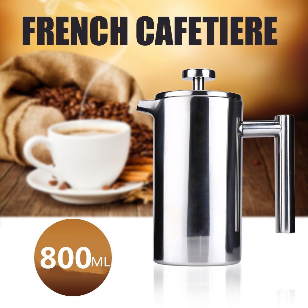 350/800 / 1000ML rozsdamentes acél francia kávéfőző Cafetiere - Konyha, étkező és bár