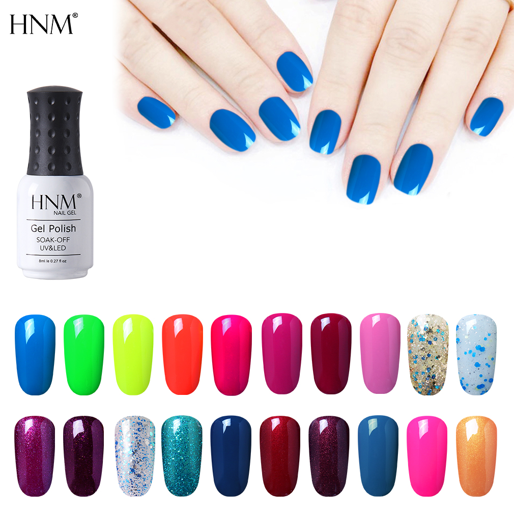 HNM 241 Colors Nail Gel 8ML Pure Color Gel Nail...