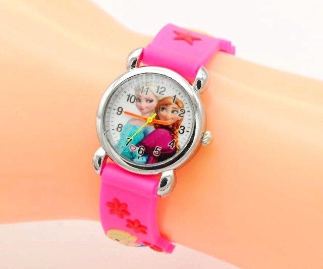 Relojes Mujer 2017 Infantil Reloj Snow Queen Princess elsa anna Cartoon Watch 3D