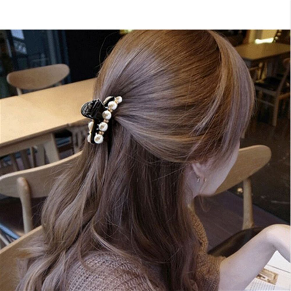 Tophot Fashion Crab Hair  Claws Imitation Pearl Lady Headwear Accessories For Women Hairpins Plastic Elastic Barrette Hot #4
