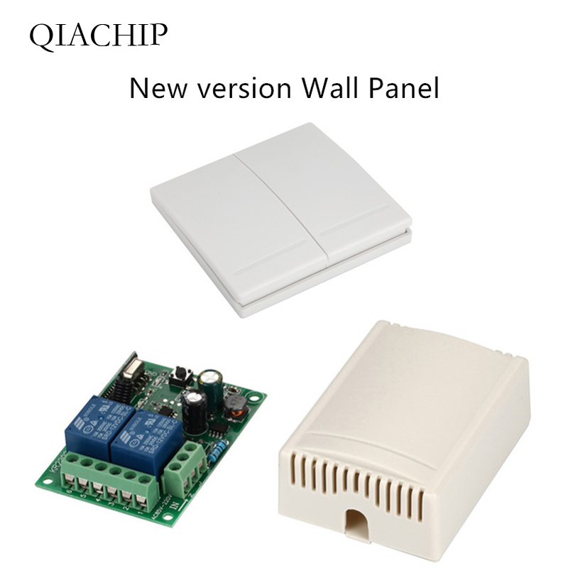 Careful Qiachip 433mhz 220v 2ch Wireless Remote Control Switches Relay Receiver Module & 2ch Remote Controls Wall Panel Rf Transmitter And To Have A Long Life.