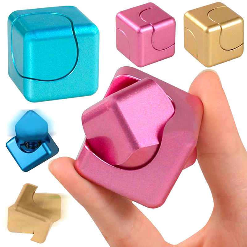 Newest Fidget Rotation Cube Hand Spinner EDC Finger Toys Fidget Cube Spinner ADHD Decompression Fingertip Gyro Anti-Stress Toys