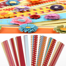 10PCS/1 Bag Flower Quilling Paper Strips Colorful Origami DIY Paper Hand Craft DIY(China)