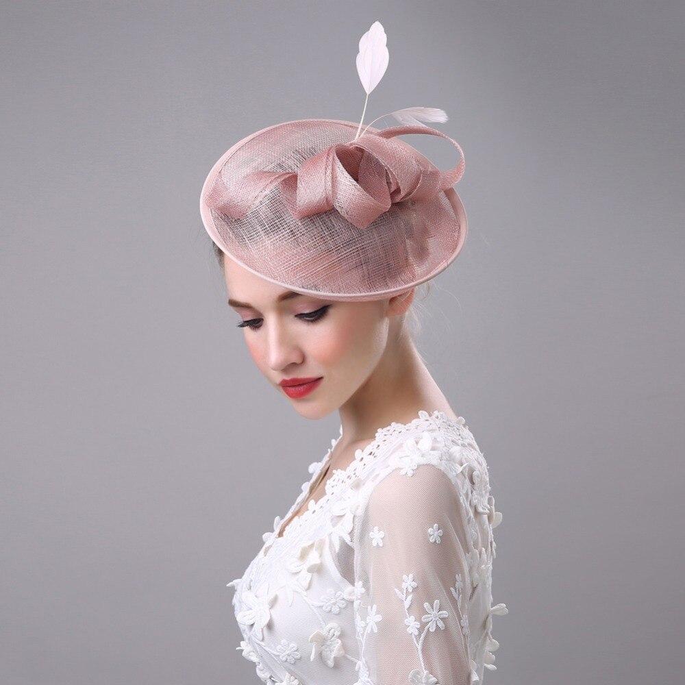 Vintage White Black Pink Wedding Bridal Hat