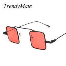 Vintage Steampunk Sunglasses Women Men Small Square Sun Glasses Ladies Clear Red Yellow Lense Mirror Goggle Punk Eyewear 1287T
