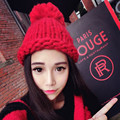 High Quality Hand Made Hat Female Autumn Winter Coarse Knitted Handmade Thick Thermal Knitted Hat Female Hats