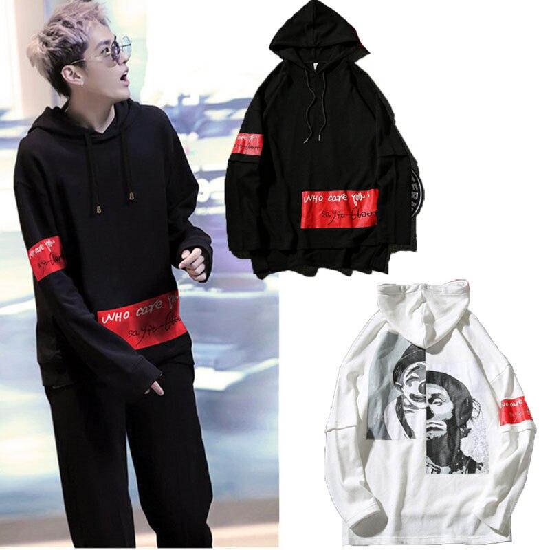 WXCTEAM Joker Hoodie Harajuku Ulzzang EXO Kris Same Style Joker Pullover Casual Cap Hoodie Sweatshirt