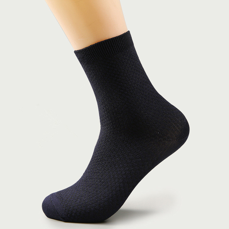 1 pair Men Bamboo Fiber Socks Brand New Casual Business Anti-Bacterial Deodorant Breathable Man Long Sock 993815