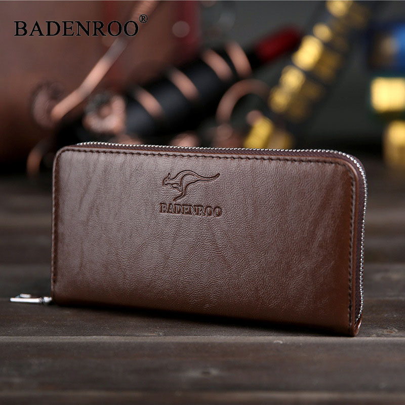 New men wallets Casual wallet men purse Long Clutch bag Business Male Wallet carteira Zipper Clutch Bags Card Cash Holder Coin 2016 famous brand new men business brown black clutch wallets bags male real leather high capacity long wallet purses handy bags