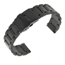 High quality Black steel Watchband Grind arenaceous Bracelets for Men watch Accessories 18mm 20mm 22mm 24mm