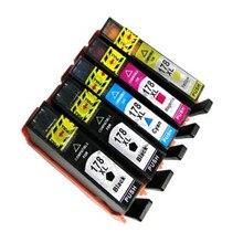 5 Compatible Ink cartridge for  178XL 178 Photosmart B109 B110 B210 C309 C310 C410 D5468 D5463 D5460 printer