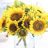 A Bag Of Sunflower Wedding Bouquet With Silk Flower Garden Home Furnishing Decoration Df 04