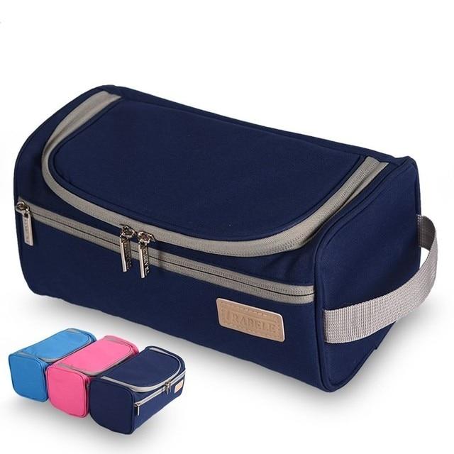 328db286fb7e US $8.27 29% OFF|Fashion Waterproof Polyester Men Travel Cosmetic Bag Women  Hanging Makeup Bag Beautician Bathroom Wash Toiletry Organizer Bag-in ...