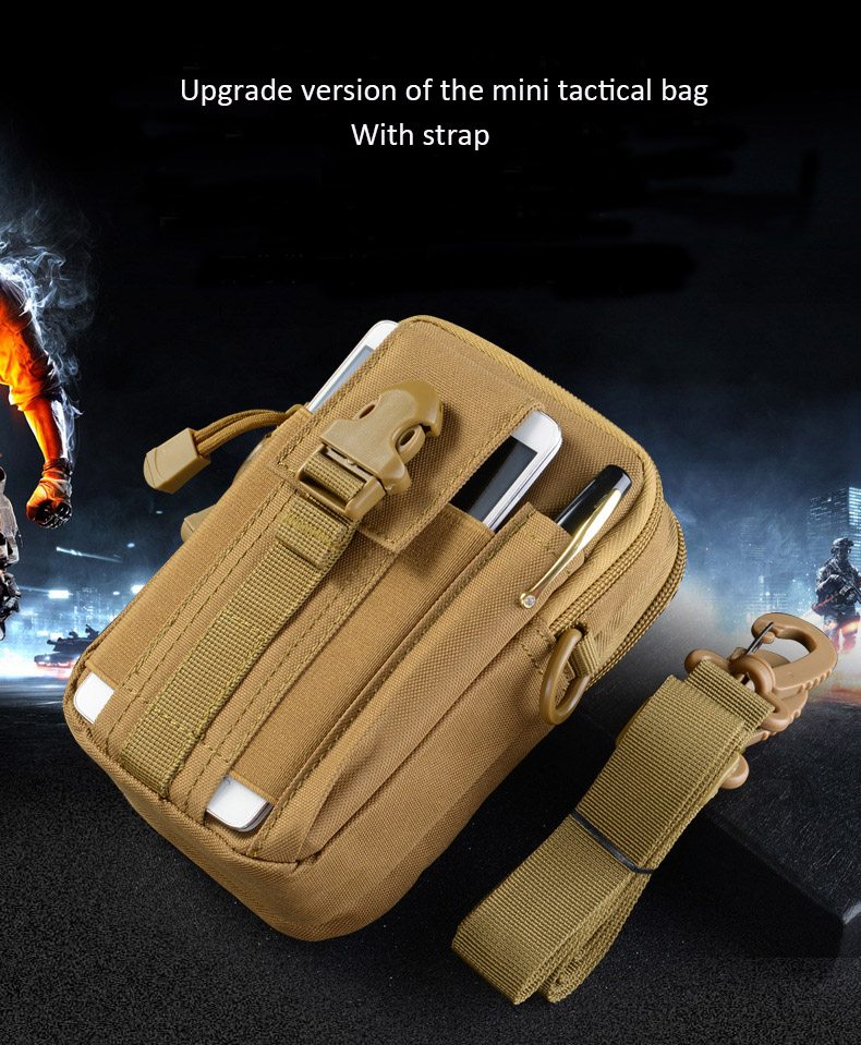 Multifunctional Camping Waist Pack Climbing Emergency Molle Survival Kits Outdoor Tactical Bag Wallet Pouch Outdoor Sport Pack (16)