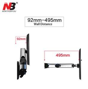 """Image 5 - NB F450 air press molla A Gas a doppio braccio 40 50 """"8 16 kg full motion parete di Monitor staffa LCD tv AL PLASMA montare lcd di sostegno del supporto"""