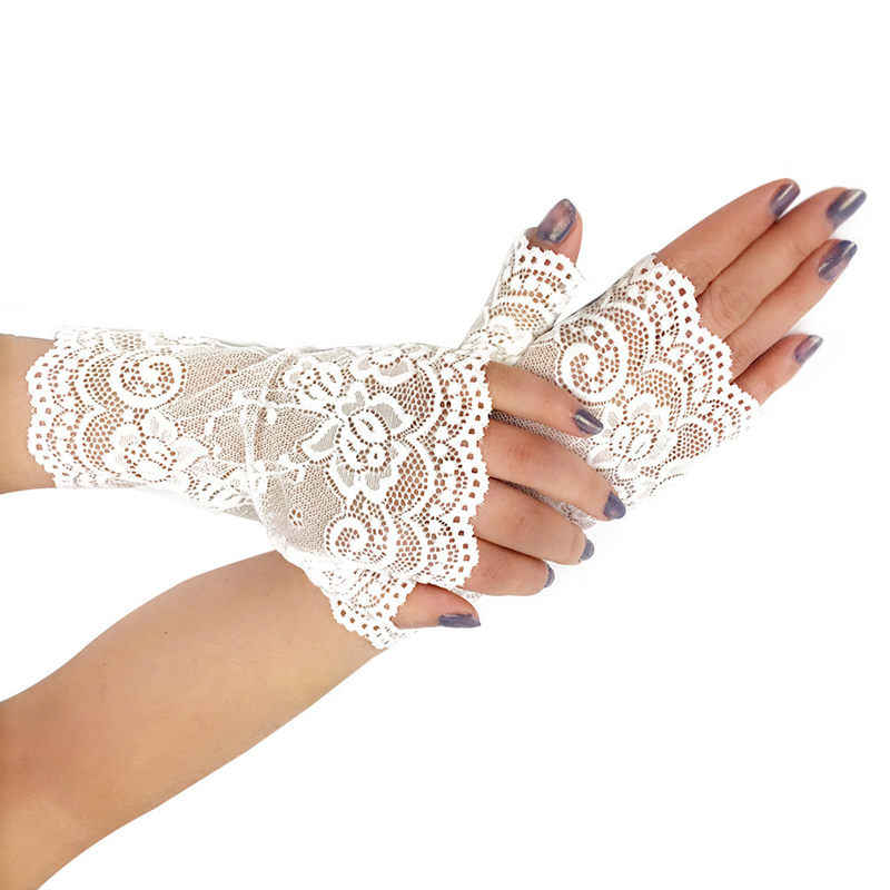 Женское сексуальное женское белье Белый Черный Красный телесный кружевные перчатки женские длинные без пальцев в сетку перчатки сетчатые варежки ганты эротические аксессуары