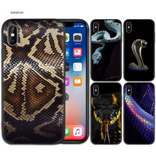 Case Cover for iPhone XS Max X XR 6 6s 7 8 Plus 5 SE 5S Scrub Silicone Phone Cases Soft Fashion Luxury Snake(China)