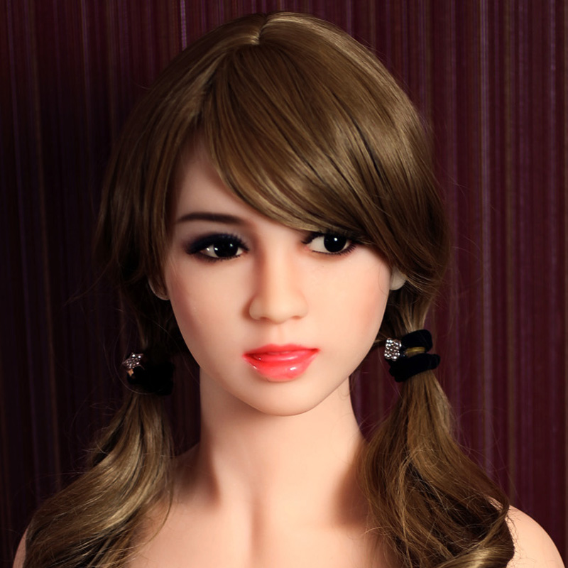 NEW #98 head for <font><b>sex</b></font> <font><b>doll</b></font> <font><b>153cm</b></font>, solid silicone love <font><b>dolls</b></font> head with tongue and wig, oral <font><b>sex</b></font> toys for men image