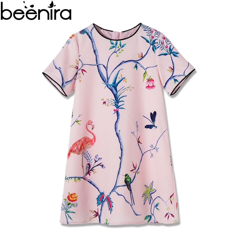 Beenira European American Style Dress 2018 Summer Children Crowned Crane Pattern Princes ...