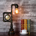 Industrial retro style water pipe table lamp Creative vintage Edison bulb desk lamp for restaurant bedroom indoor light fixture