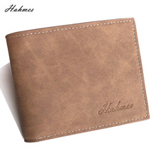 HOT High quality men's PU leather Wallet With coin bag male
