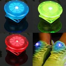 Светодиодный светящийся зажим для обуви, уличный велосипедный светодиодный светящийся ночной беговой башмак, защитные зажимы, велосипедный Предупреждение ющий светильник, безопасность